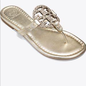 Tory Burch Miller Embellished Sandal 6.5